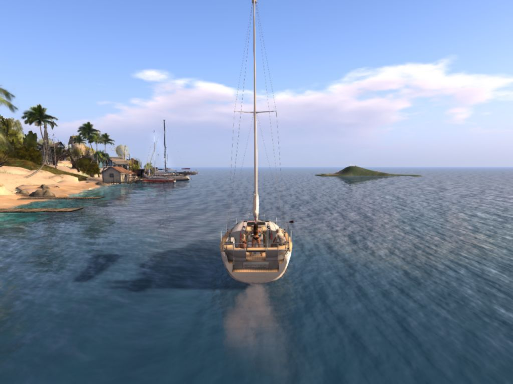 Sailing around the World in Second Life