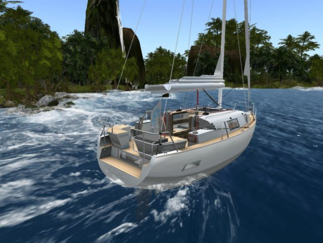 Sailing the Blake Sea in Second Life