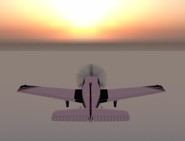 Flying over the Linden Ocean in Second Life