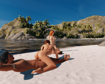 Sex on the beach in 3dxchat